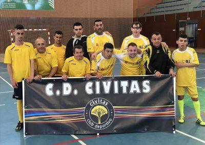Partido de entrenamiento del Club Deportivo CIVITAS