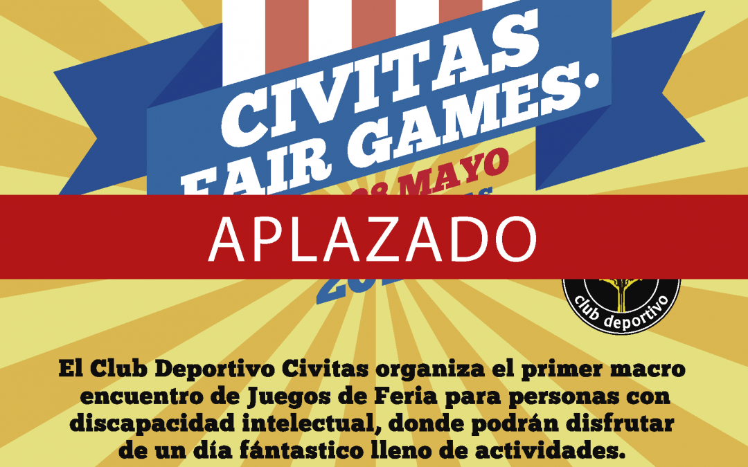 Se aplazan los Fair Games para 2020