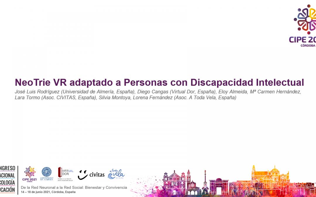 Presentación de Comunicación Oral en X Congreso Internacional de Psicología y Educación.