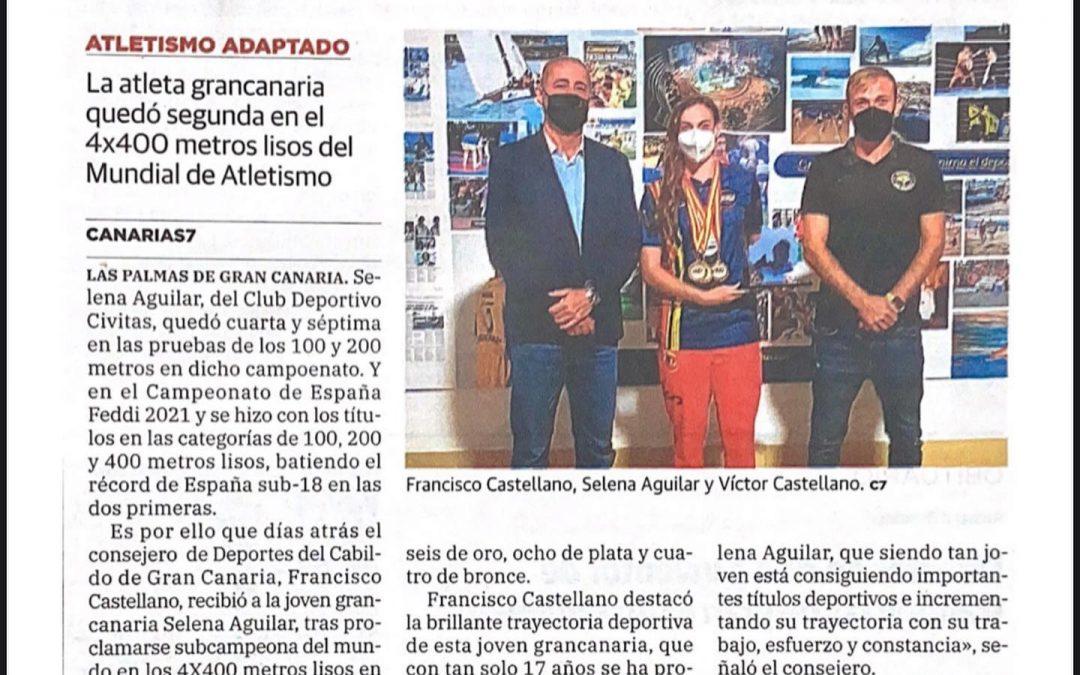 Los éxitos deportivos de Selena en la prensa.